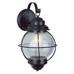 Bel Air Lighting Lanterne cochère noire d'extérieur à 1 lumière