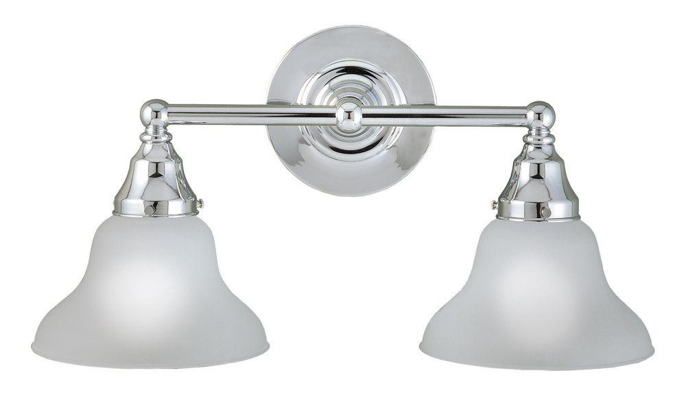 Asten Collection Chrome 2-Light Bath Bar