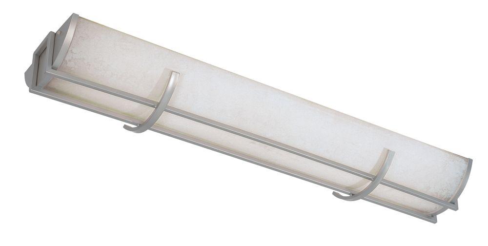 Luminaire affleurant à 3 lampes fluorescentes au fini nickel brossé de la Collection Beyond Moder...