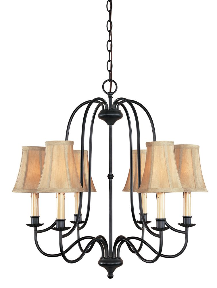 Brondy Collection 6-Light Chandelier in Aged Ebony