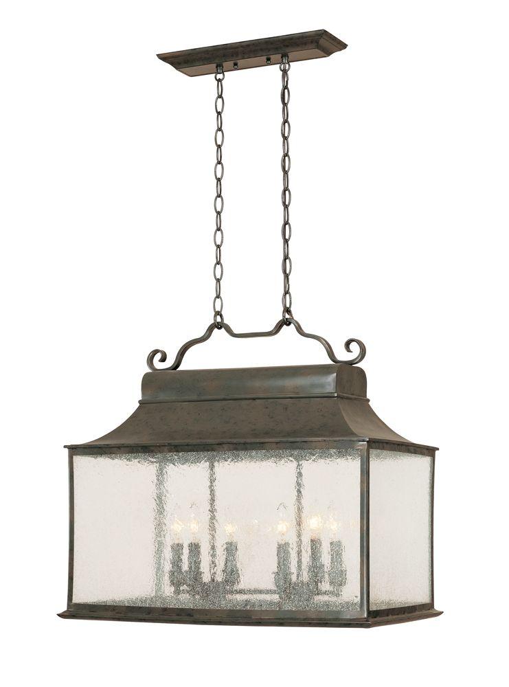 Suspension pour îlot à 6 lampes au fini flamand de la Collection Revere, homologuée Dark Sky