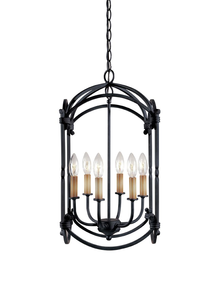 Hastings Collection 6-Light Hanging Lantern in Rust 61408-42 in Canada