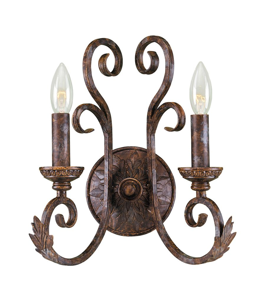 Medici Collection 2-Light Wall Sconce in Oxide Bronze