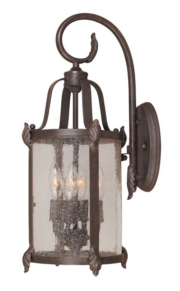 Lanterne murale extérieure à 4 lampes au fini bronze de la Collection Old Sturbridge, 9 po