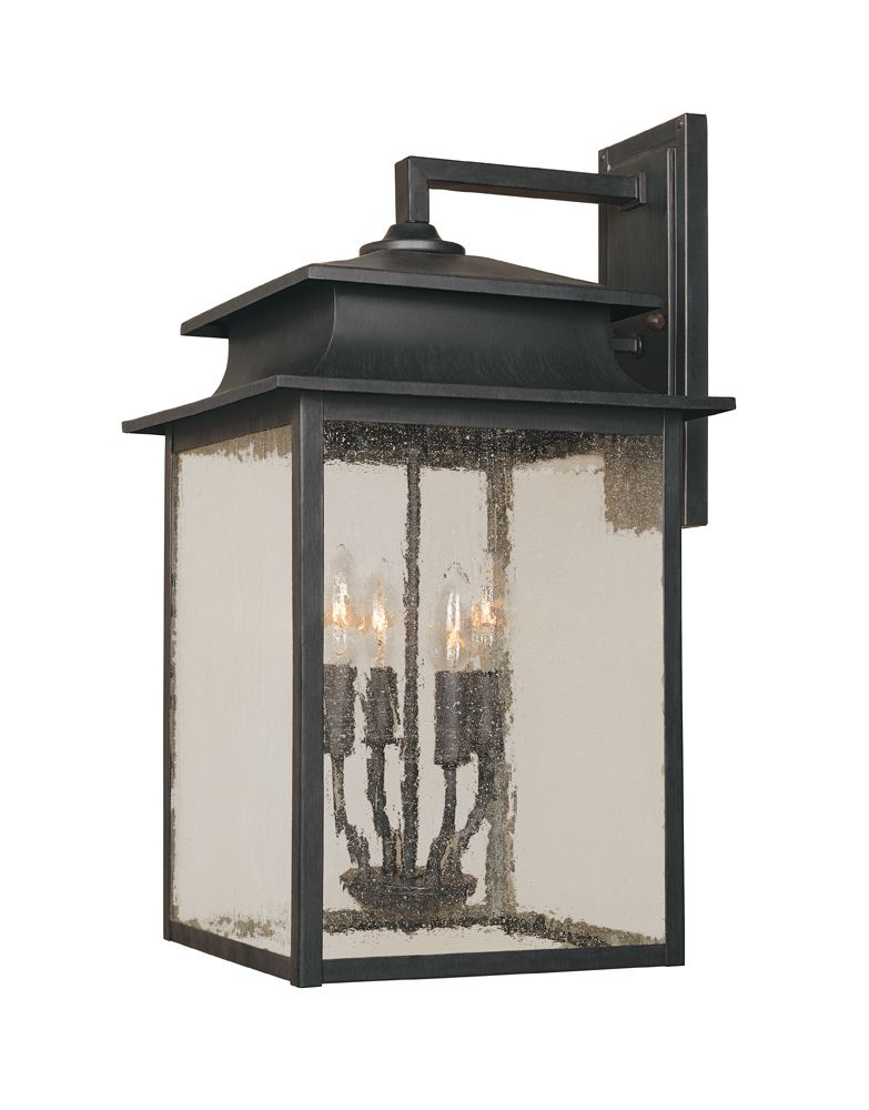 Sutton Collection 12 in. 4-Light Wall Sconce in Rust