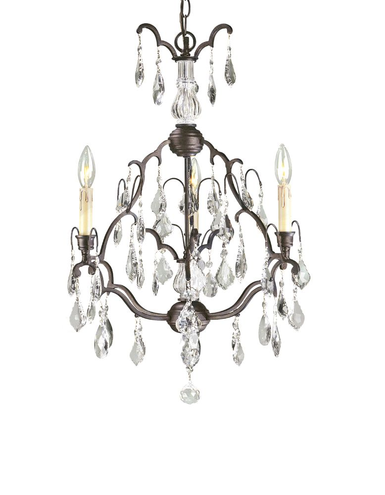 Timeless Elegance Collection Bronze 3-Light small Chandelier