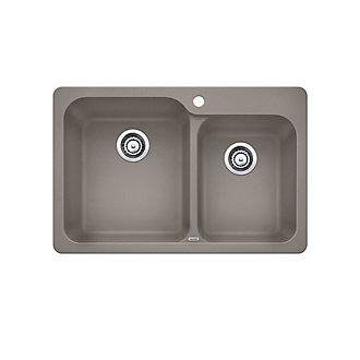 Blanco silgranit top mount natural granite composite 175 bowl silgranit top mount natural granite composite 175 bowl kitchen sink in truffle workwithnaturefo