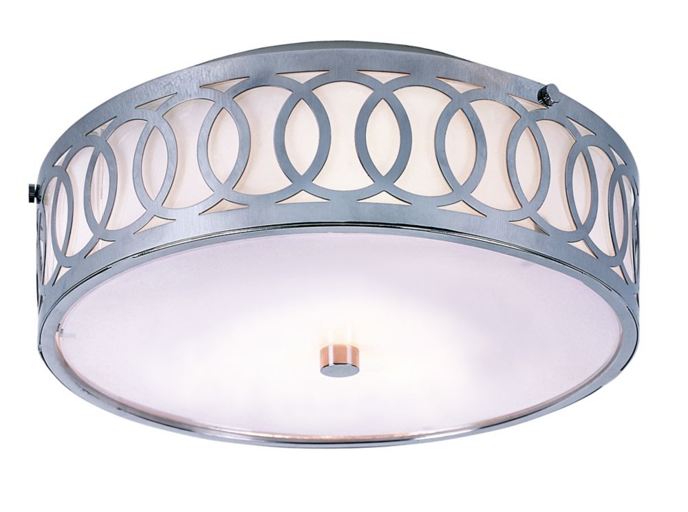 Bel Air Lighting Balboa 3-Light Polished Chrome Flushmount