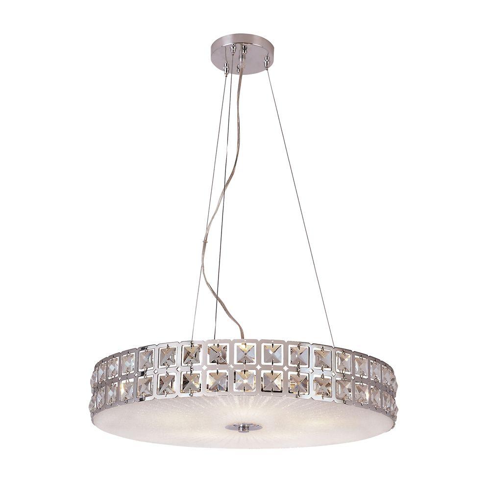 hampton bay suspension cristal graniglia et chrome 50 80 cm 20 po home depot canada. Black Bedroom Furniture Sets. Home Design Ideas