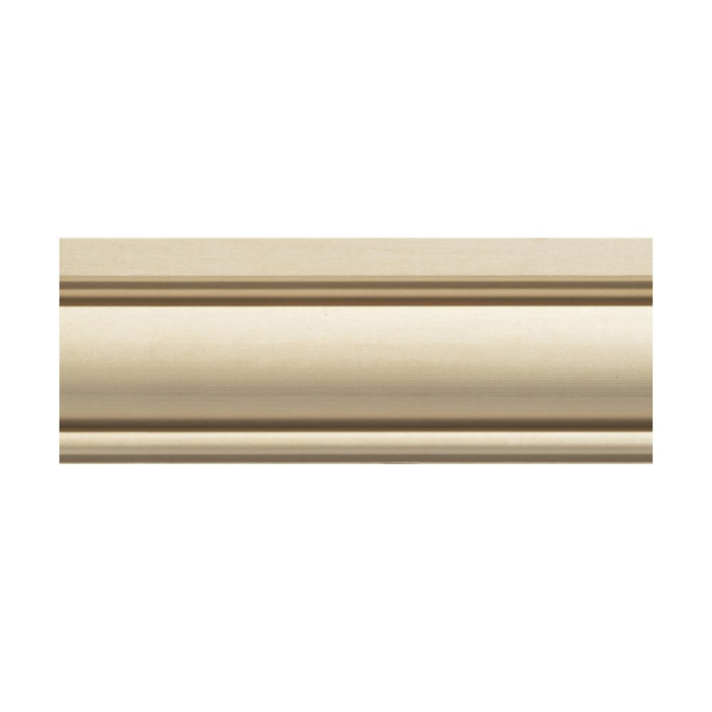 Ornamental Mouldings Poplar Colonial Chair Rail Moulding - 7/8 x 2-5/8 x 96 Inches