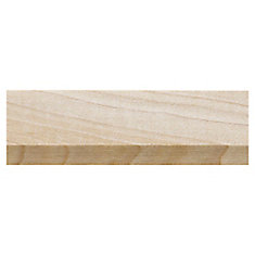 White Hardwood Bevel Base Cap Moulding - 5/8 x 1-1/4 x 96 Inches