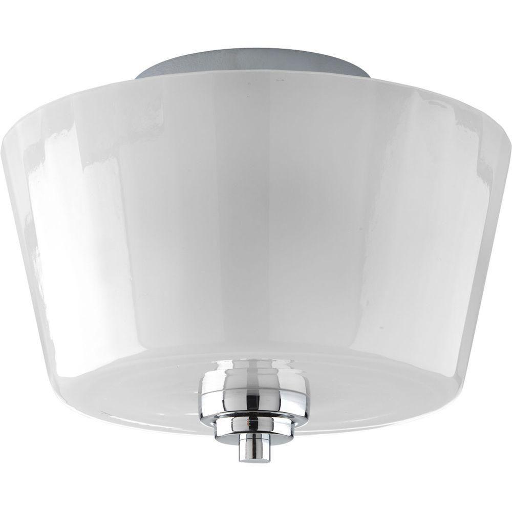 Victory Collection Polished Chrome 2-light Semi-flushmount