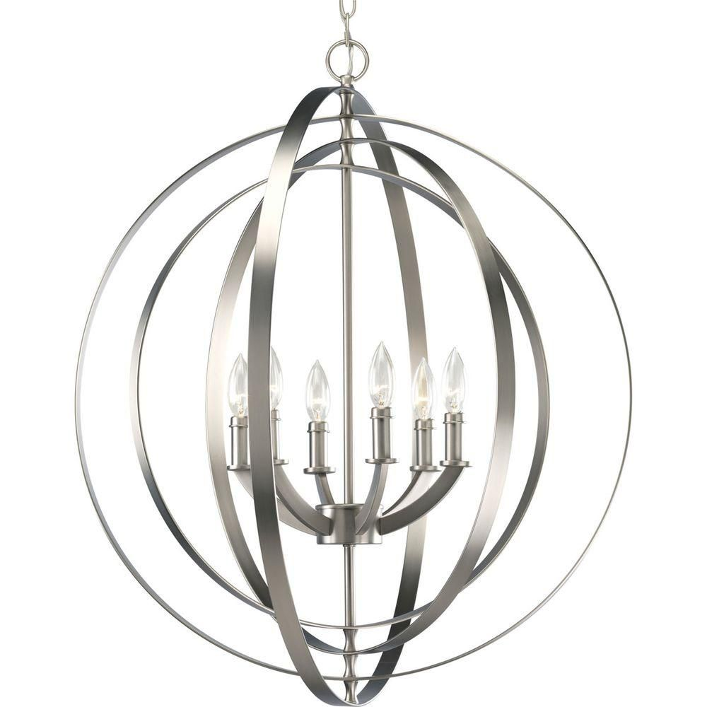 Equinox Collection Burnished Silver 6-light Foyer Pendant