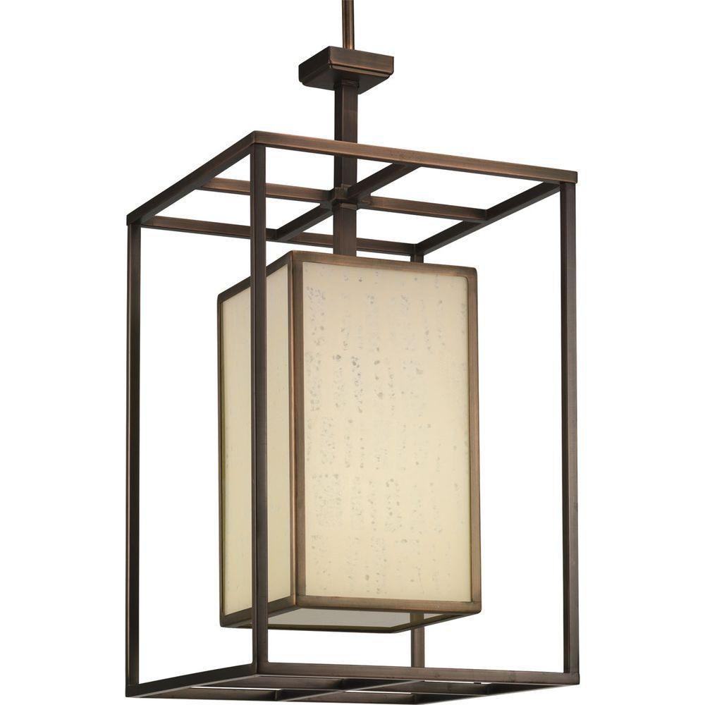 Haven Collection Copper Bronze 1-light Foyer Pendant