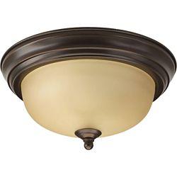 Progress Lighting 60W 1-Light Antique Bronze Flushmount