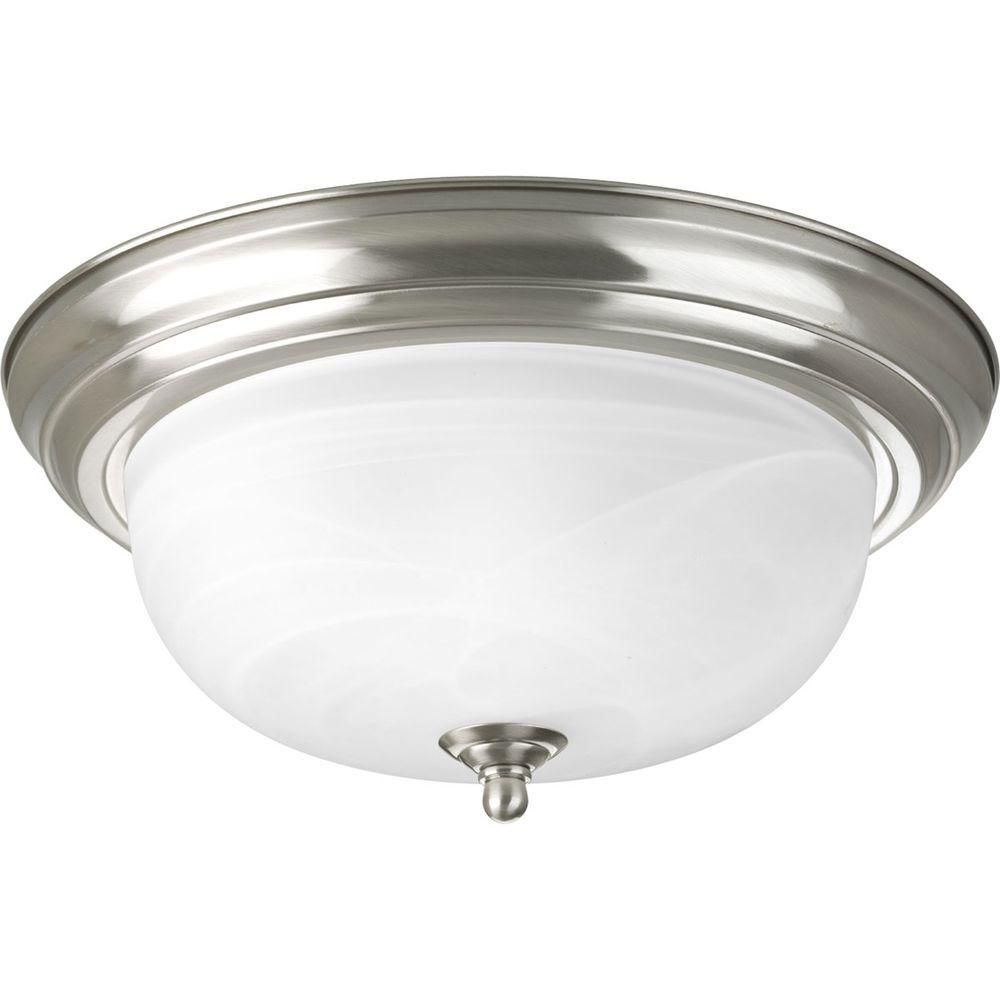 Brushed Nickel 2-light Flushmount