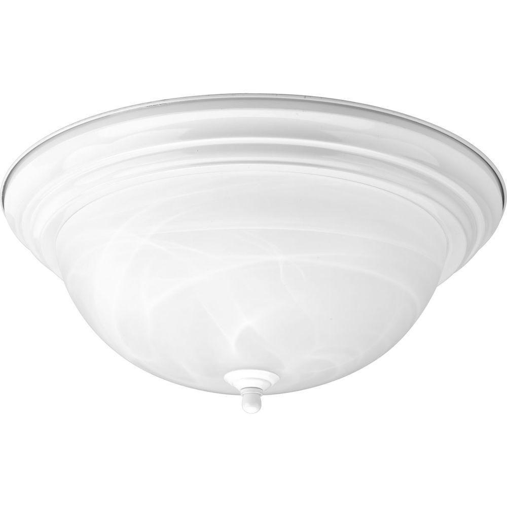 White 3-light Flushmount