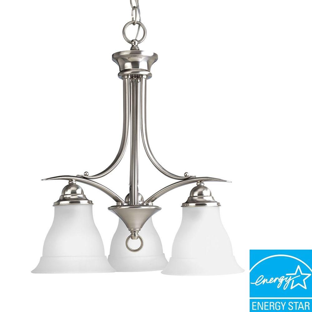 Trinity Collection Brushed Nickel 3-light Chandelier