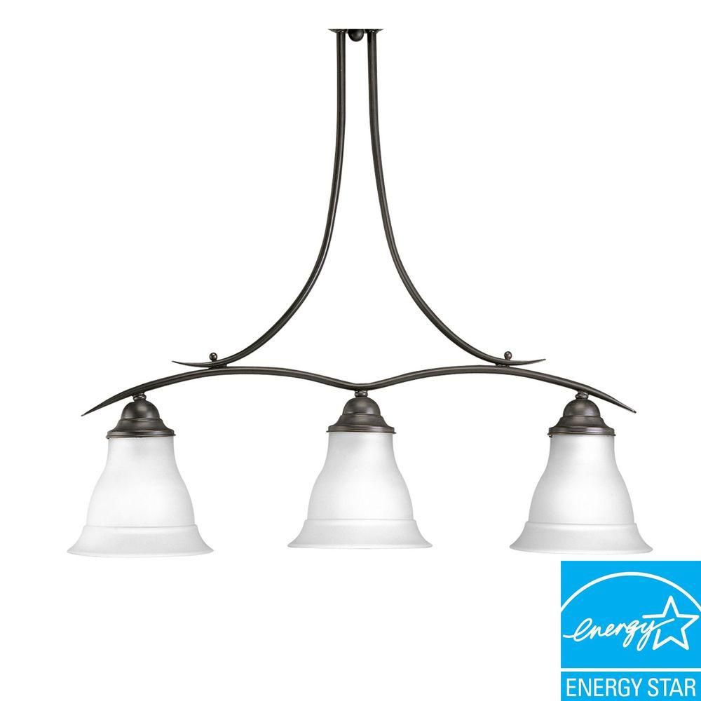 Trinity Collection Antique Bronze 3-light Chandelier