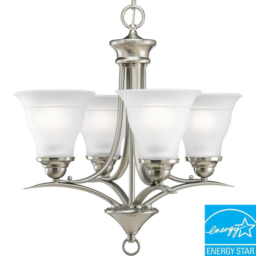 Trinity Collection Brushed Nickel 4-light Chandelier
