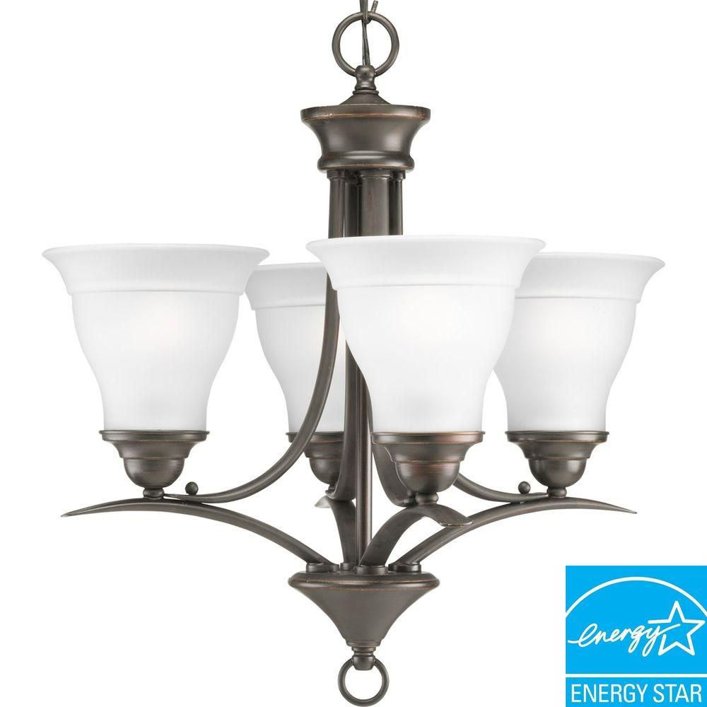 Trinity Collection Antique Bronze 4-light Chandelier