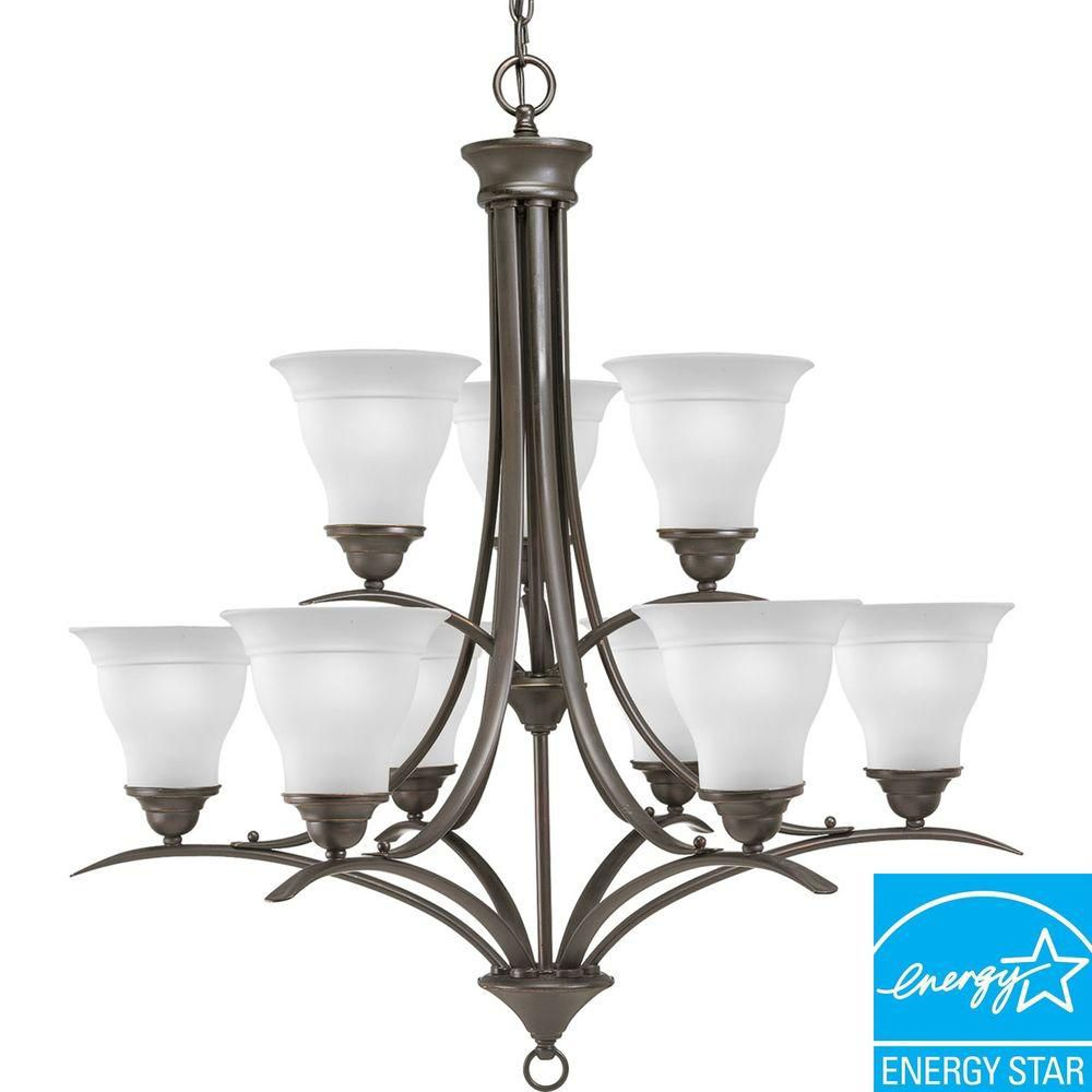 Trinity Collection Antique Bronze 9-light Chandelier