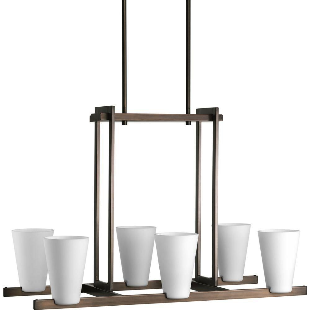 Rock-on Collection Copper Bronze 6-light Chandelier