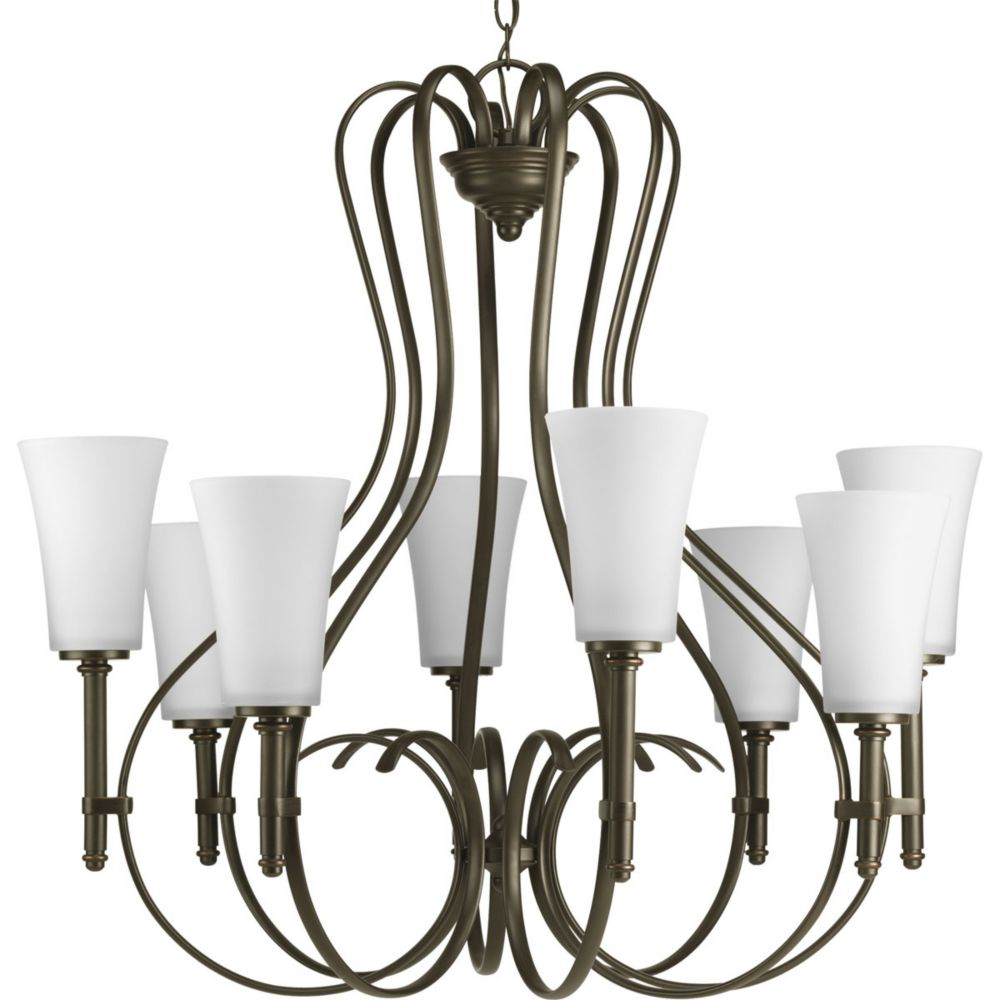 Flirt Collection Antique Bronze 8-light Chandelier