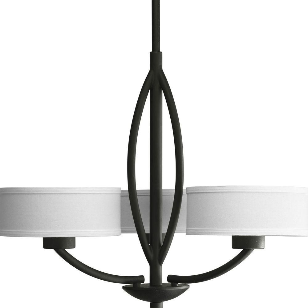 Calven Collection Forged Black 3-light Chandelier