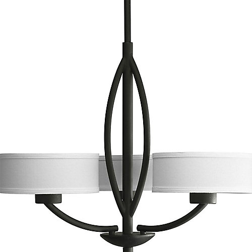 Progress lighting calven collection forged black 3 light calven collection forged black 3 light chandelier aloadofball Choice Image