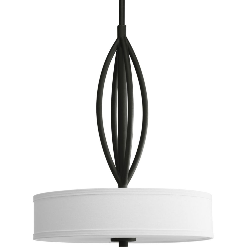 Progress Lighting Calven Collection Forged Black 3 Light