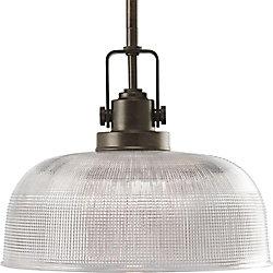 Progress Lighting Suspension à 1 Lumière, Collection Archie - fini Bronze Venitiem