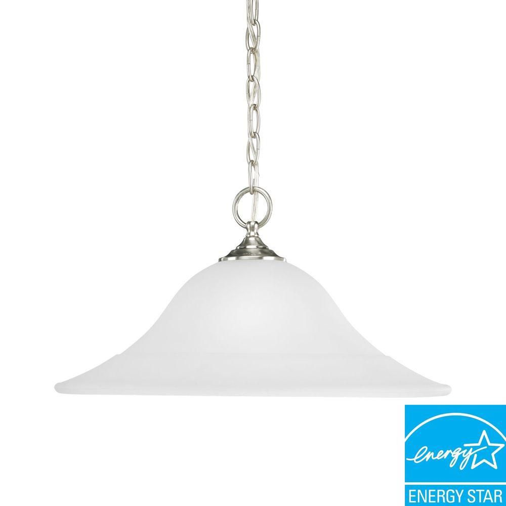 Trinity Collection Brushed Nickel 1-light Pendant