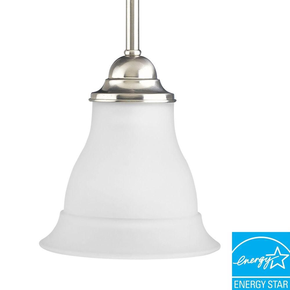 Trinity Collection Brushed Nickel 1-light Mini-Pendant