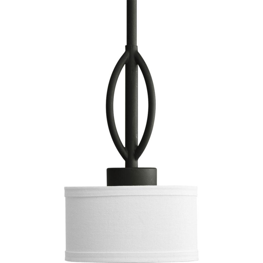 Mini suspension à 1 Lumière, Collection Calven - fini Noir Forgé