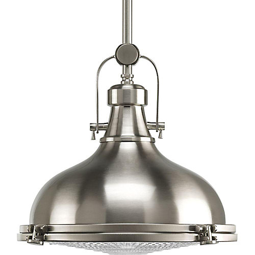 Progress lighting fresnel collection 1 light brushed nickel pendant fresnel collection 1 light brushed nickel pendant light fixture aloadofball Image collections