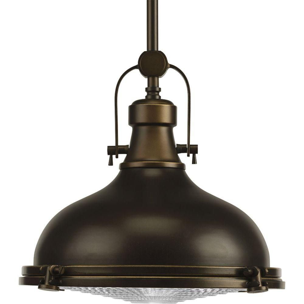 Fresnel Collection Oil Rubbed Bronze 1-light Pendant