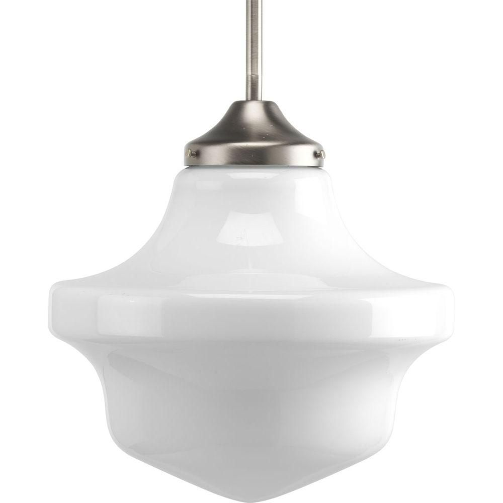 Schoolhouse Collection Brushed Nickel 1-light Mini-Pendant