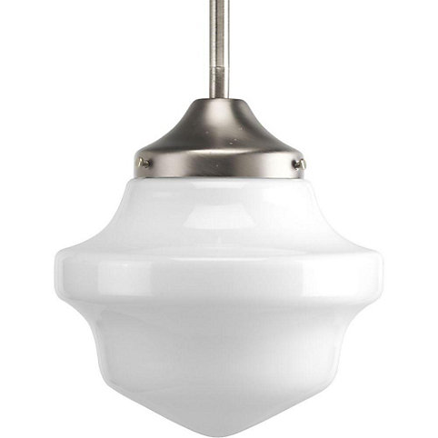 progress lighting schoolhouse collection 1 light brushed nickel