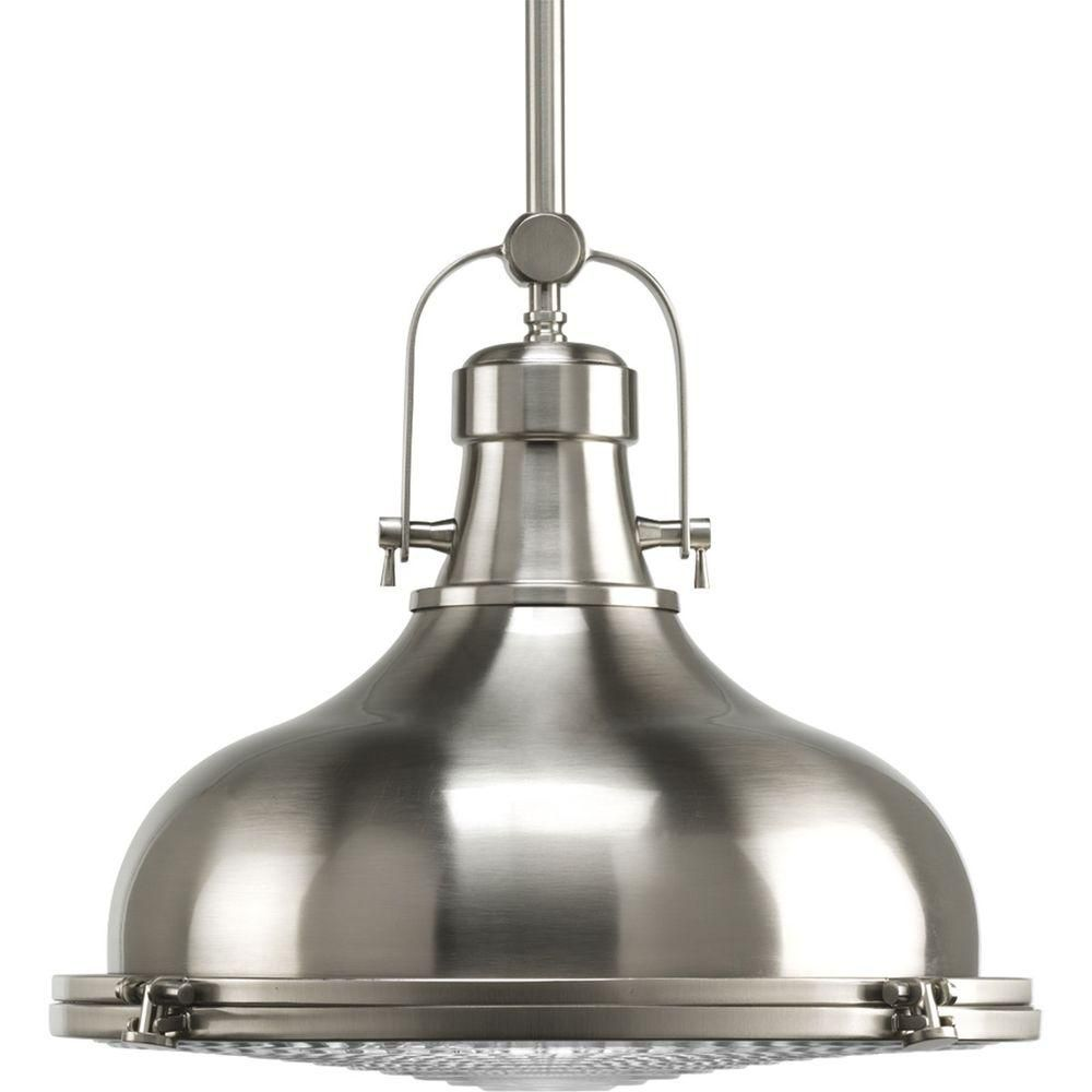 Fresnel Collection Brushed Nickel 1-light Pendant