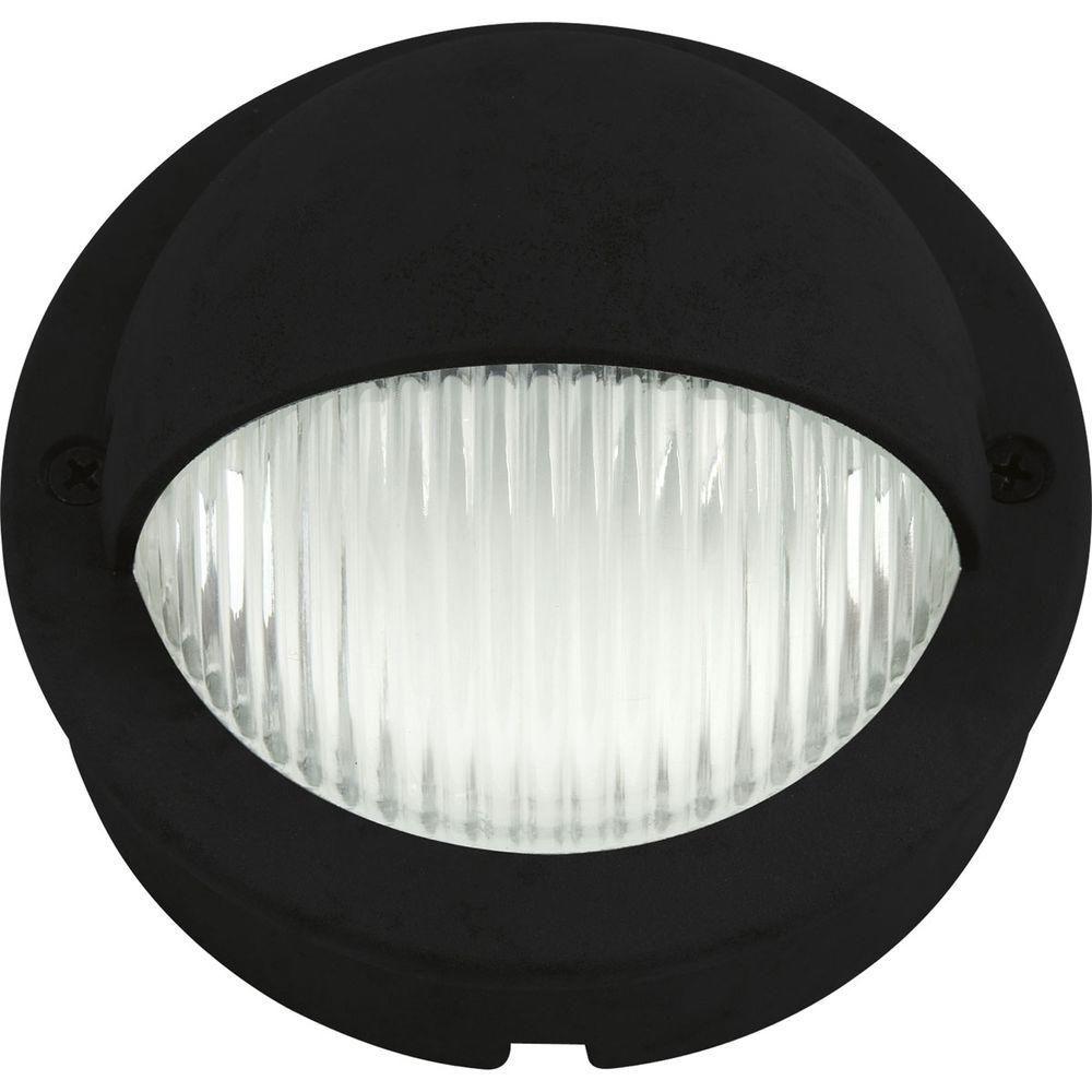 Black 1-light LED Landscape Decklight
