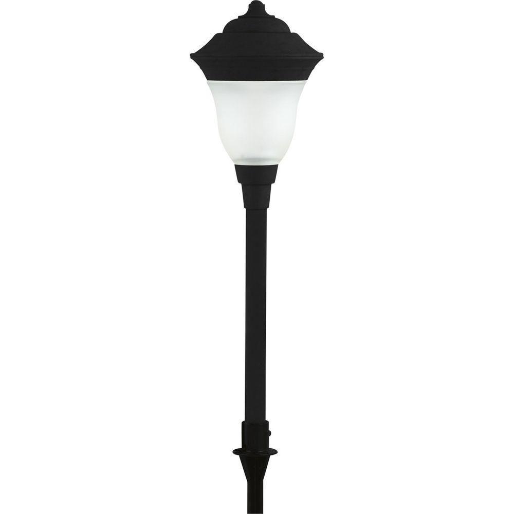Luminaire dallée de jardin noir à 1lampe DEL