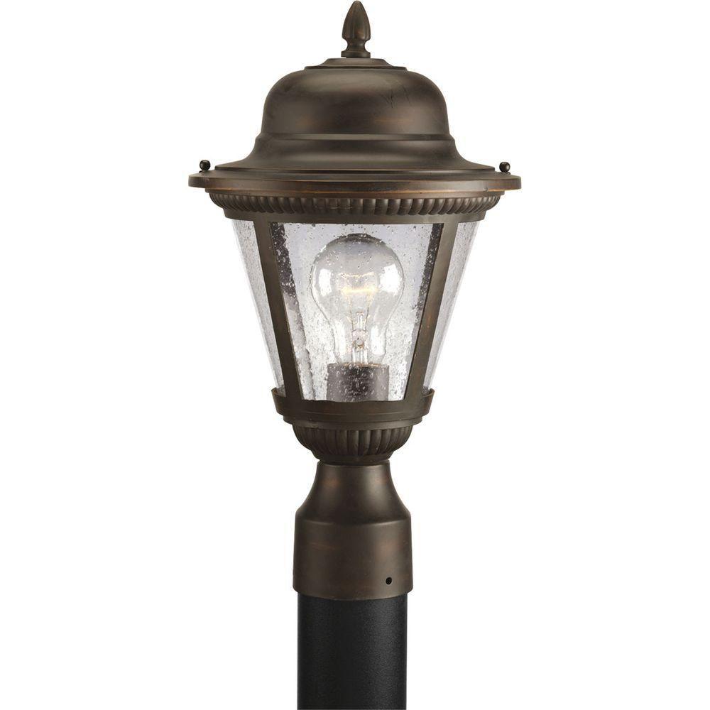 Westport Collection Antique Bronze 1-light Post Lantern