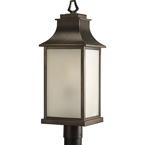 Lampadaire à 1 Lumière, Collection Salute - fini Bronze Lustre