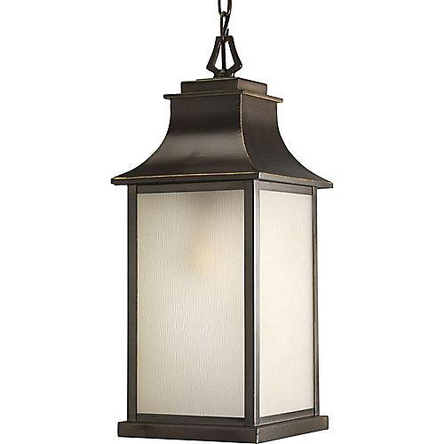 Lanterne suspendue à 1 Lumière, Collection Salute - fini Bronze Lustre
