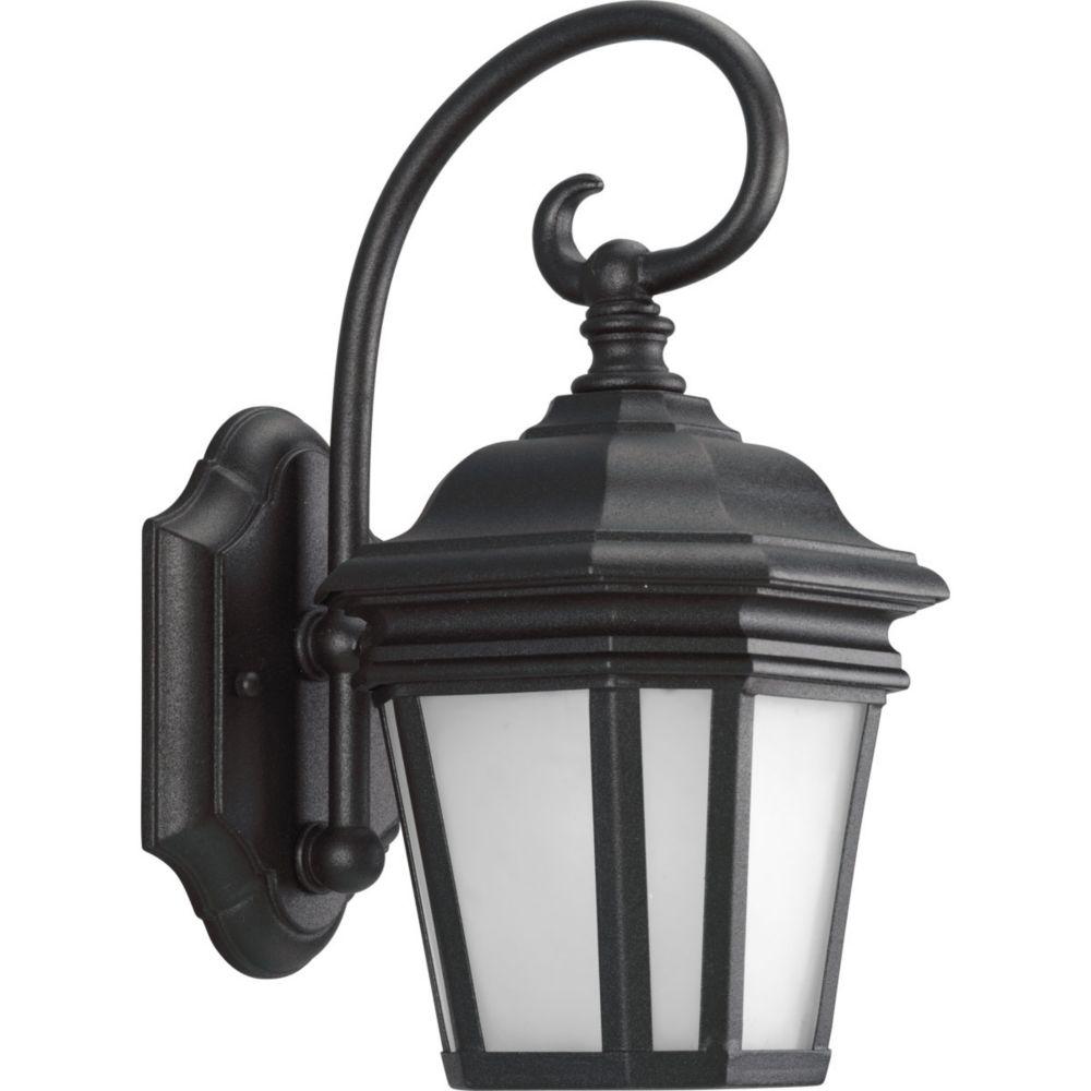 Progress Lighting Crawford Collection Textured Black 1-light Wall Lantern