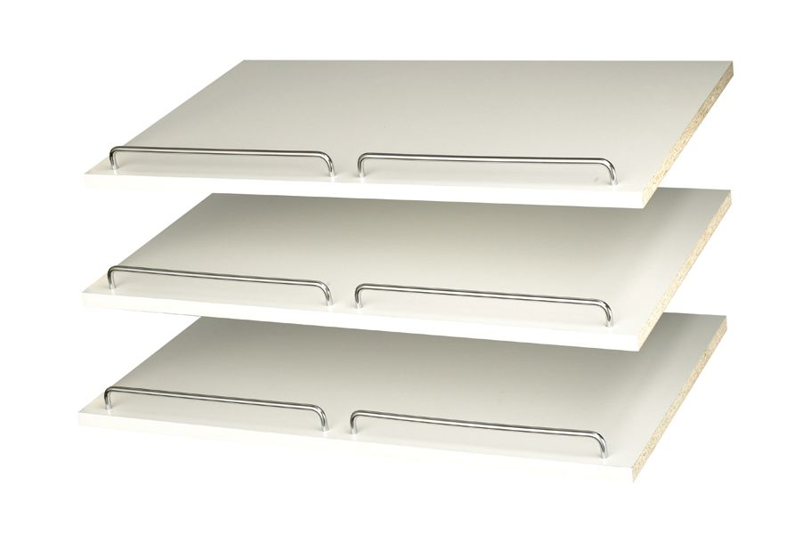 24 Inch Shoe Shelves (3 pack) - White