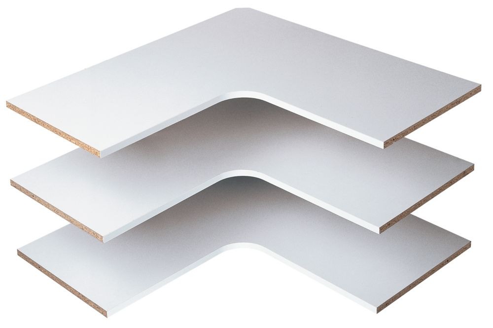 Corner Shelves (3 pack) - White