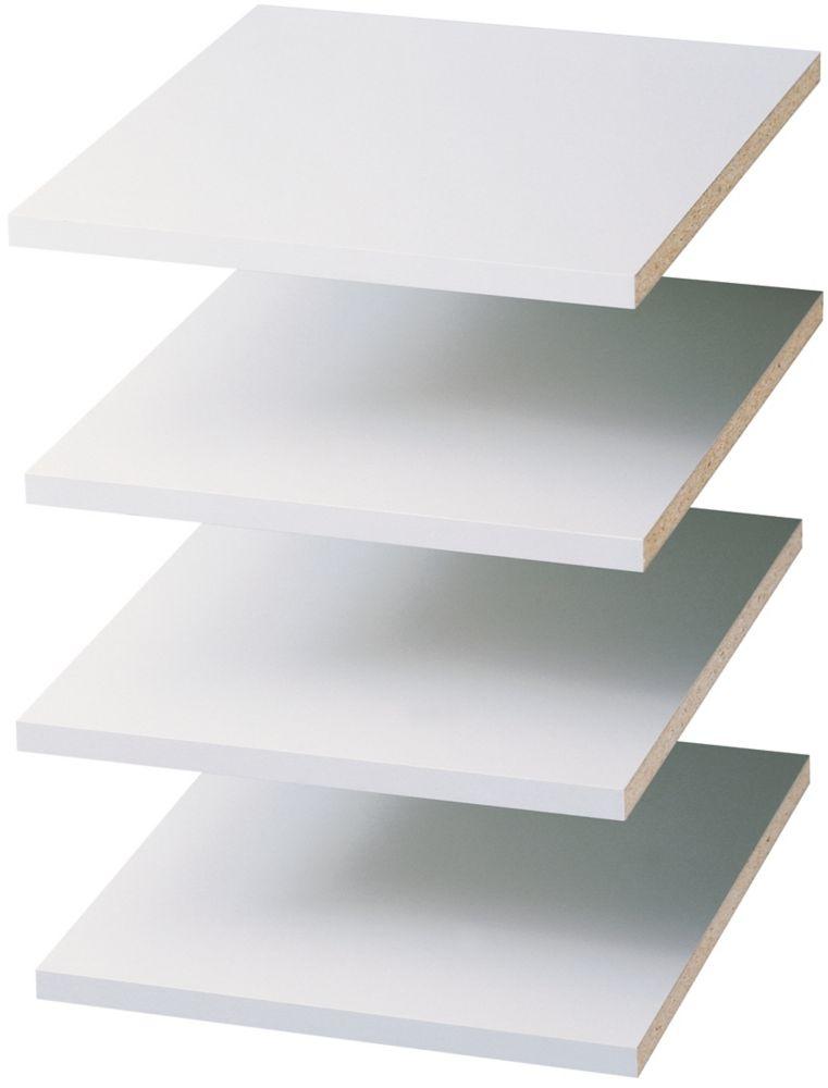 12 Inch Shelves (4 pack) - White
