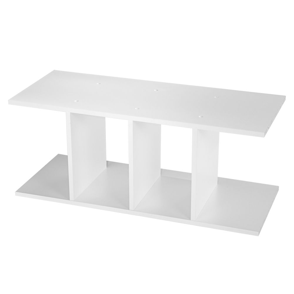 Shelves with Vertical Dividers - White